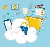 Privatleben- und Sicherheitssystemgraphikikonen Lizenzfreie Stockfotografie