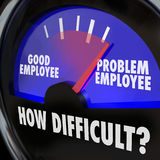 Problem Employee Level Good Worker Difficult Person Gauge Royalty Free Stock Images