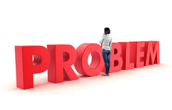 Problem before a girl Stock Photo
