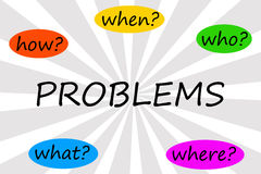 Problem questions Royalty Free Stock Photo