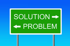 Problem and solution Royalty Free Stock Image