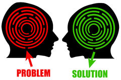 Problem and solution Royalty Free Stock Images