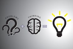 Problem solution concept - solving it using brain Royalty Free Stock Image