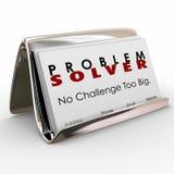 Problem Solver Business Card Holder Consultant Job Career Stock Photos