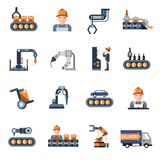 Production Line Icons Royalty Free Stock Photos