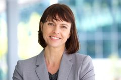 Professional business woman smiling outdoor Royalty Free Stock Photo