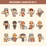 Professional character set Royalty Free Stock Photo