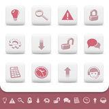 Professional web icons buttons vector set 2 Stock Photos