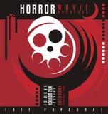 Progettazione del manifesto di festival di maratona o di film horror di film horror Immagini Stock Libere da Diritti