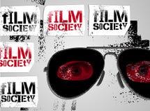 Progettazione tipografica dei graffiti per la società del film Illustrazione di vettore Immagine Stock