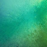 Progettazione verde e blu astratta del fondo della spruzzata di colore con struttura di lerciume Fotografia Stock