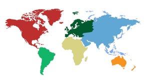 Programma di mondo dei continenti Immagine Stock Libera da Diritti