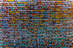 Programming code abstract screen of software developer. Royalty Free Stock Photos