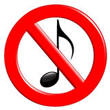 Prohibition of noise and music Stock Images
