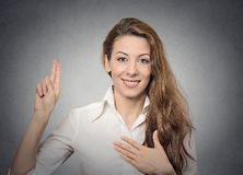 Promise hand gesture Royalty Free Stock Images
