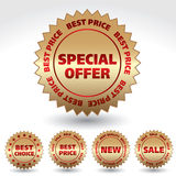 Promo stickers. Royalty Free Stock Photography