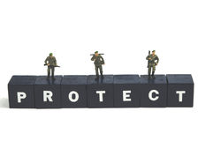 Protect and serve Royalty Free Stock Image