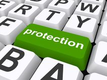 Protection button Royalty Free Stock Images
