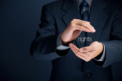 Protection of human rights Stock Image
