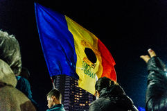 Protests in Romania Stock Image