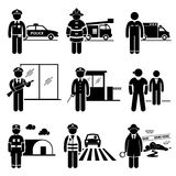 Public Safety and Security Jobs Occupations Career Royalty Free Stock Image