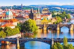Puentes de Praga, República Checa Imágenes de archivo libres de regalías