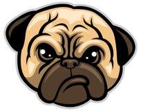 Pug dog head Royalty Free Stock Images
