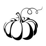 Pumpkin. Black silhouette. Stock Photo