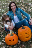 Pumpkin carving Royalty Free Stock Photography
