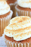 Pumpkin Spice Cupcakes with Cream Cheese Icing Stock Images
