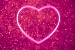 Purple heart shape Royalty Free Stock Photos