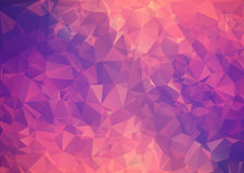 Purple pink abstract background polygon. Stock Image