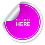 Purple vector sticker Royalty Free Stock Photography