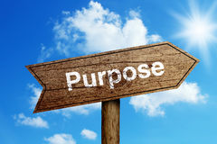 Purpose Road Sign Royalty Free Stock Images
