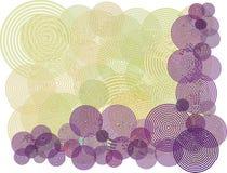 purpur swirl för bakgrundscirkelillustration Arkivfoton