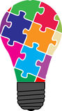 Puzzle bulb Stock Photo