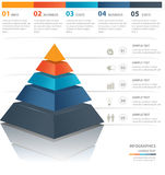 Pyramid chart Stock Photography