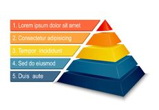 Pyramid chart for infographics Royalty Free Stock Photography