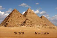 Pyramides de Gizeh Photos libres de droits