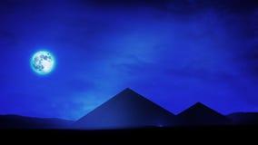 Pyramids At Night Stock Image