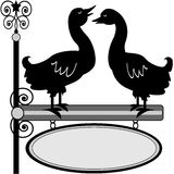 Quacking duck sign Royalty Free Stock Images