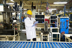 Quality Control Engineer Tech, Industrial Factory Royalty Free Stock Photos