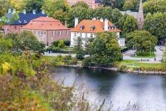Quiet scandinavian town, regular life... Royalty Free Stock Photo