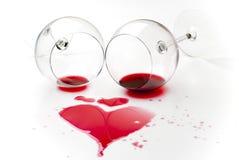 röd spilld wine Arkivfoto