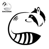 Raccoon label Stock Photography