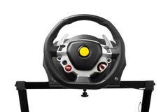 Racing wheel for computer driving simulator Royalty Free Stock Image