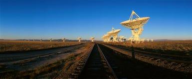 Radio telescope dishes at National Radio Astronomy Observatory in Socorro, NM Stock Image