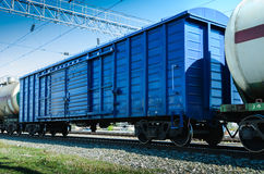 Rail freight wagon Stock Images