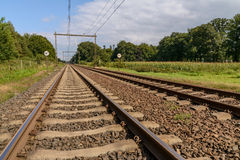 Railway in Holland Royalty Free Stock Photography