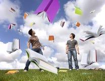 Rain of books Stock Photography